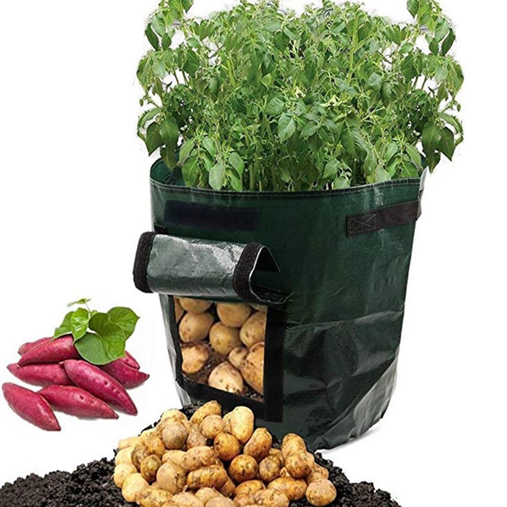 DIY Potato Grow Planter PE Cloth Planting Container Bag gardening jardineria Thicken Garden Pot Planting Grow Bag