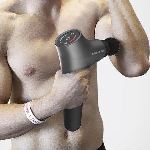 nova arma de massagem muscular estimulador muscular tecido profundo relaxamento fascia massagem alivio da dor