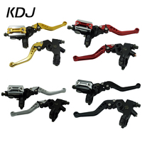 A Pair 7/8 22mm Universal Motorcycle Brake Clutch Master Cylinder Lever Cable Clutch Reservoir For Scooter Sport Dirt Bike