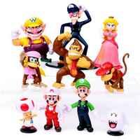 Figuras de acción de Super Mario, 1 Uds., modelo de Pvc de nubes de gorila y seta de princesa, regalo para chico