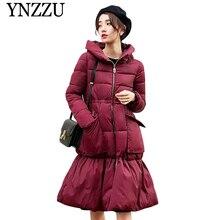2019 Winter New arrival Solid Women cotton-padded jacket Hooded Thick Warm Pockets Girls parkas Long sleeve overcoat YNZZU YO927