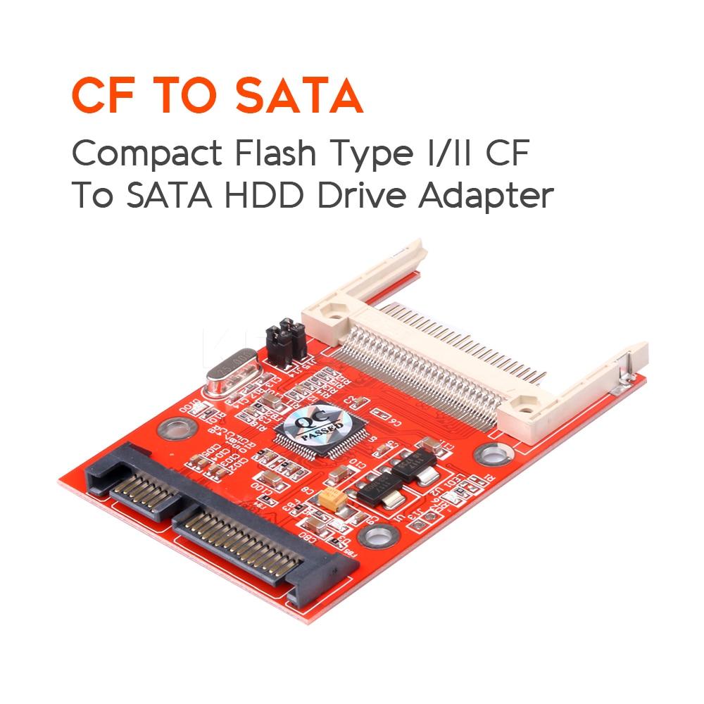 Конвертер Kebidu CF в Sata, компактная флеш-карта CF до 2,5 SATA 22Pin, адаптер-конвертер, компактный флеш-накопитель, жесткий диск