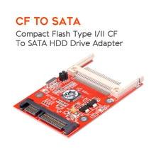 Kebidu cf para sata conversor cf compact flash merory cartão para 2.5 sata 22pin conversor adaptador compacto flash hdd disco rígido adaptador