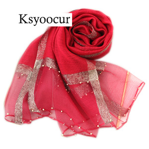 Image 5 - Size 180*90cm 2020 New Silk Scarves Beach Towel Scarf Female Four Seasons Shawls and Scarves Women Scarf Brand Ksyoocur E11