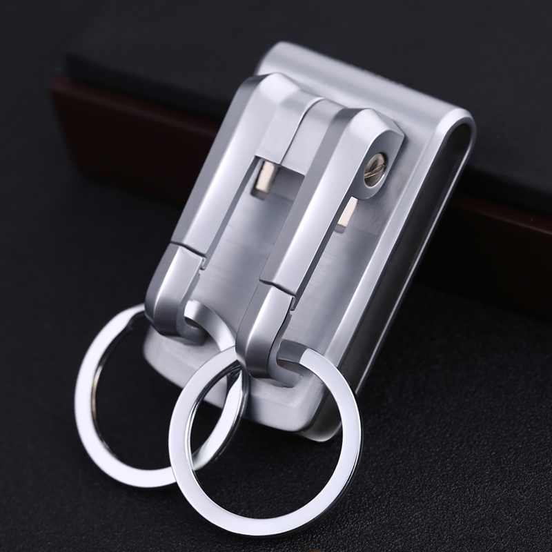 Luxury High-quality Belt Key Clip Holder Ultra Waist Hanging Belts Keychain Holders Car Key Chain Buckle Creative Men Best Gift