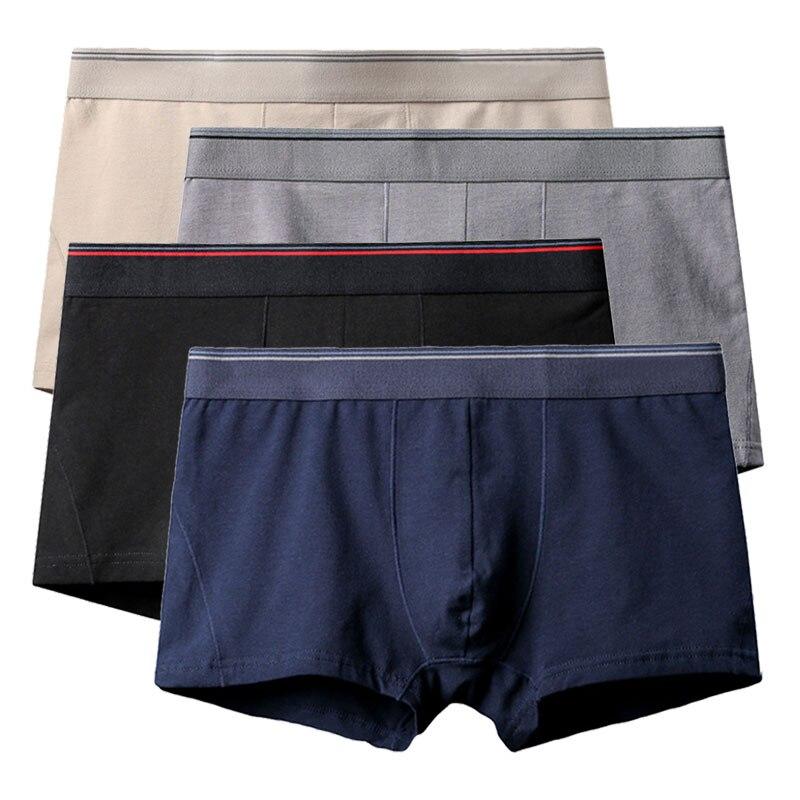 YITIANCHEN Male Panties Cotton Men's Underwear Boxers Breathable Man Boxer Solid Underpants Comfortable Brand Shorts Jdren