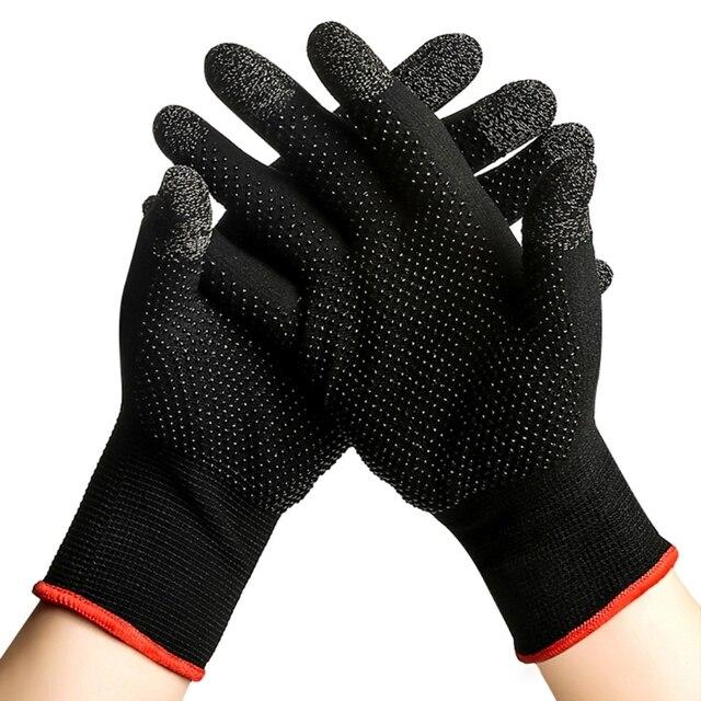 2pcs יד כיסוי משחק בקר עבור PUBG זיעה משחקים אצבע אגודל שרוול כפפה