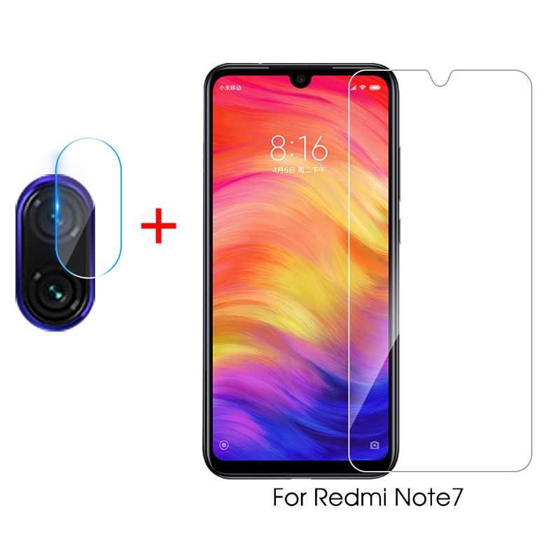 2 In 1 Camera Lens Protector For Xiaomi Redmi Note 7 Protective Glass For Redmi Note 7 Pro Tempered Glass Screen Protector Note7