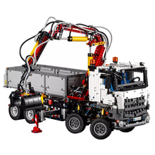 New Mechanical Toys Mercedes-Benz Arocs 3245 Compatible Legoingly Mechanical 42043 Building Blocks Figure Bricks Christmas Gift 2017 new 2793pcs 20005 lepin technic series model building kits blocks bricks arocs toy for children gift compatible with 42043