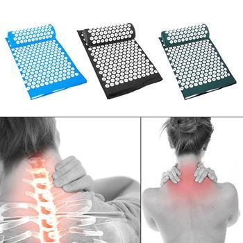 Cabeça do corpo massagem acupuntura massageador esteira relaxamento alívio do estresse dor yoga esteira acupressão travesseiro almofada transporte da gota