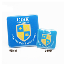 100pcs 55*55mm square shape button badge components button badge raw material