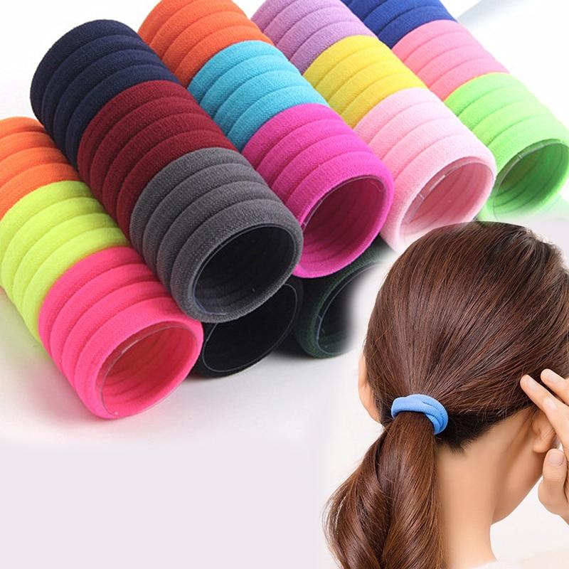 25PCS/lot 5CM Rainbow Colorful Hair Band Gum Hair Ties For Girls Rubber Bands Hair Elastics Kids Accessories Headdress