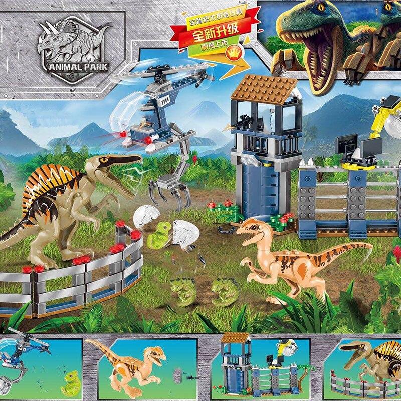 Image 2 - Новый мир Юрского Периода Динозавры динозавры спинозавр штурмовая Военная фигура строительный блок Legoinglys с 73934 75935 75937 75938-in Блоки from Игрушки и хобби