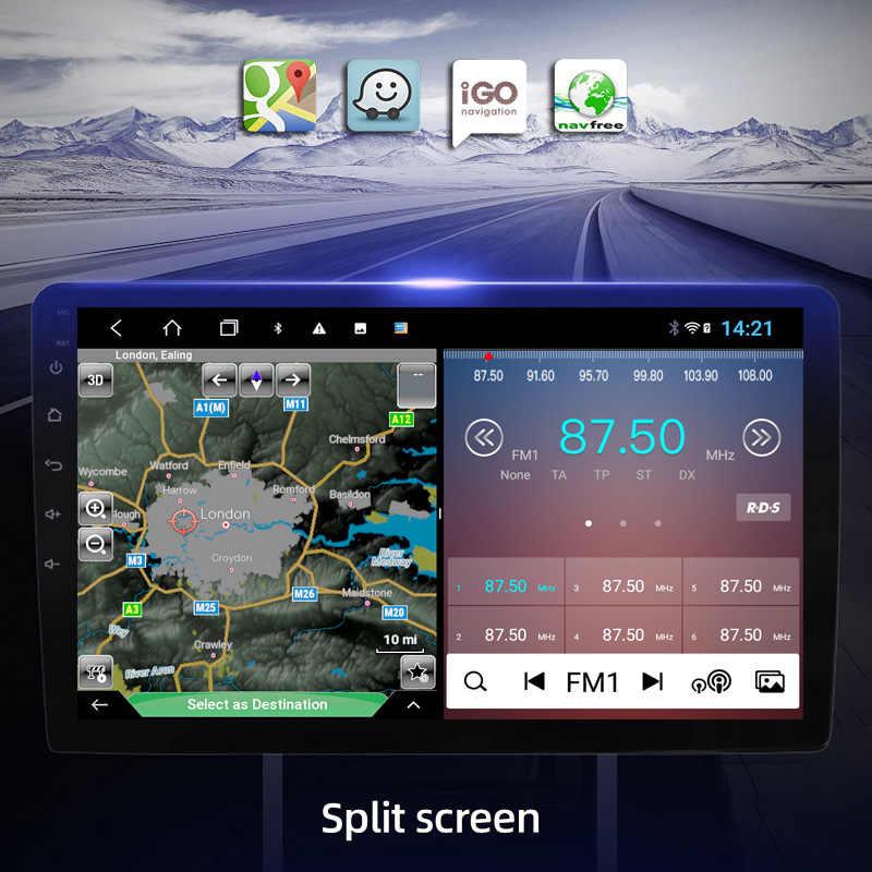 4G + 64G 8 9 Inch Màn Hình IPS Android 9 Đa Phương Tiện Phát Thanh Stereo GPS Dẫn Đường Âm Thanh cho Xe BMW E39 E53 X5