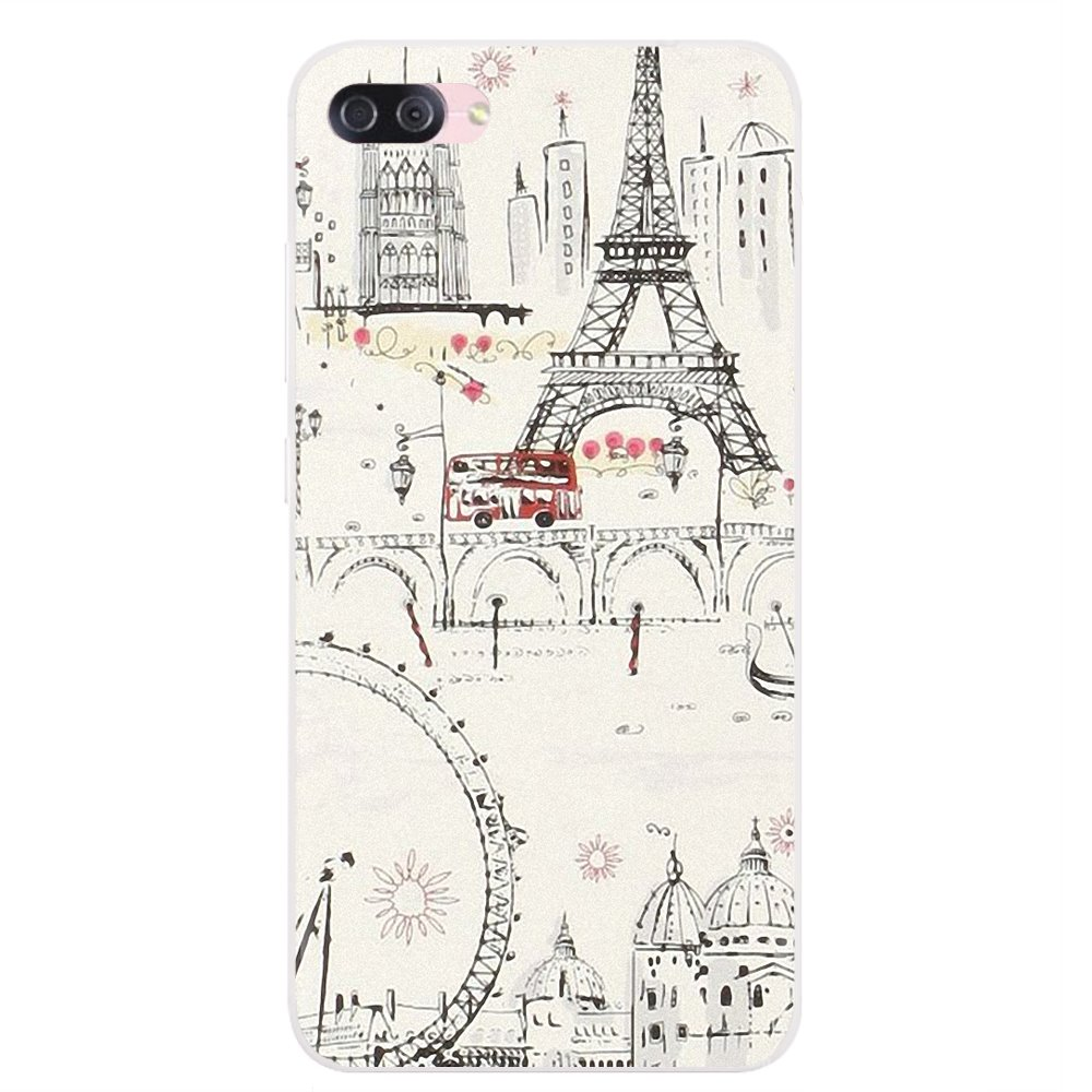 For Samsung Galaxy A3 A5 A7 A9 A8 Star Lite A6 Plus 2018 2015 2016 2017 Buy Silicone Phone Case Balloons over Paris Eiffel tower(China)