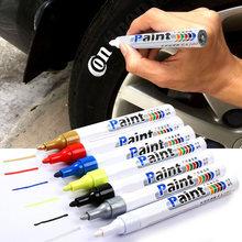 Nettoyeur de peinture pour pneus et roues de voiture, stylo de peinture à l'huile, vernis en caoutchouc, marqueur métallique Permanent, Graffiti, toucher, cire humide