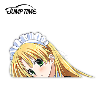 Jump Time Anime High School DxD Asia Argento 57 6.1 Bumper Window Helmet Vinyl Decal Peeker Car Stickers image