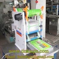 FGJ D1 1Semi automatic lunch box sealing machine print date Takeaway packing box Sealing machine coding Food tray sealing machin