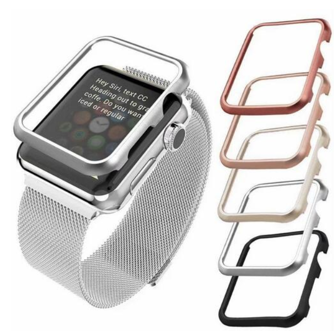 Steel Bumper Case For Apple Watch Band 42mm 38mm 40mm 44mm For Iwatch 5 4 3 2 1 Metal Frame Protective Case