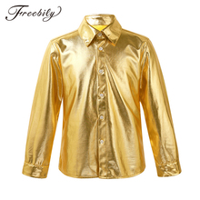 Rave Outfit Hiphop Boys Jazz-Dance-Costume Disco Stage-Performance Kids Child Shirt Long-Sleeve