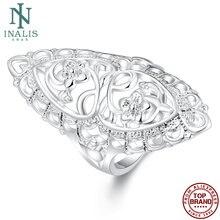 Обручальное кольцо inalis классическое креативное резное для