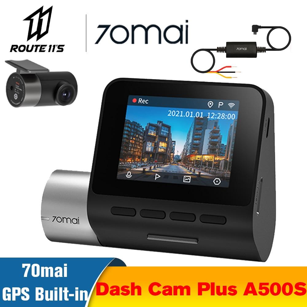 70mai-Cámara de salpicadero Pro Plus A500S para coche, GPS, DVR, cámara frontal y trasera 1944P, velocidad coordinada, ADAS, aparcamiento 24H