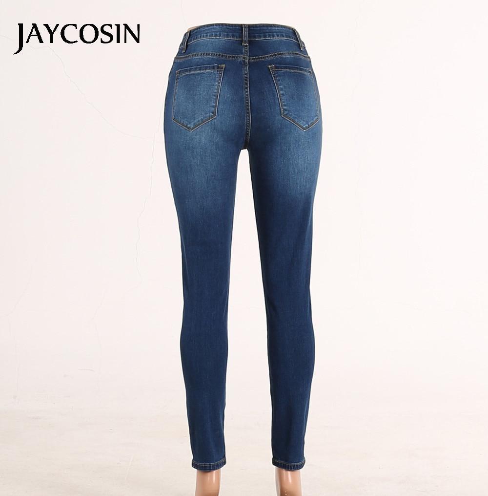 Jaycosin Hoge Taille Stretch Jeans Slang Cowboy Leggings Skinny Slim Fitness Broek Broek Elastische Vaqueros Mujer Nieuwe Collectie J #7