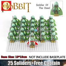 One Set Middle Age Lord of the Rings Dead Gondor Soldiers Uruk-hais Roman Commander Crusades Spartan Warrior Army Troop Orcs Medieval Knight Building Blocks Toys for Children(China)