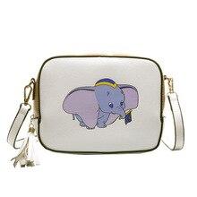 Disney Dumbo cartoon dame messenger tasche schulter pu frauen mode handtasche Kleine paket geschenk handy tasche geldbörse einkaufstasche
