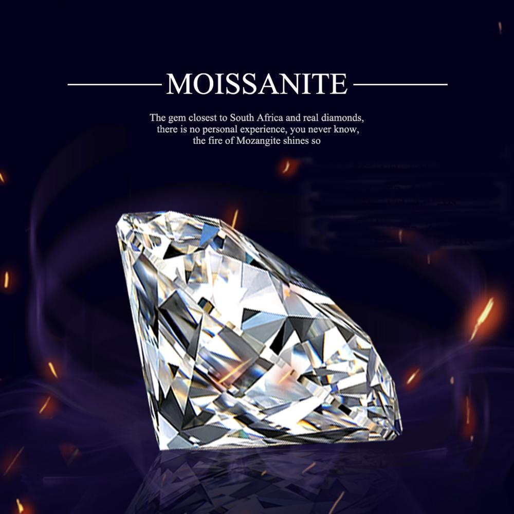 Szjinao Loose Gemstones Moissanite Stone D Color 1.0ct Carat 6.5mm VVS1 Clear Diamond GRA Moissanit For jewelry With Certificate