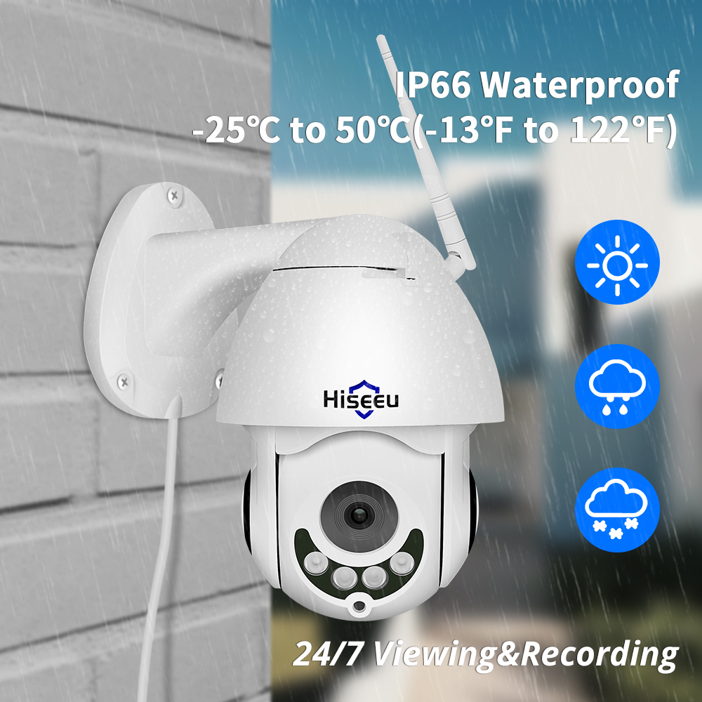 Image 4 - 1080P WIFI IP Camera PTZ 5X Optical Zoom Speed Dome ONVIF CCTV Outdoor Waterproof 2MP Two Way Audio Camera Hiseeu-in Surveillance Cameras from Security & Protection
