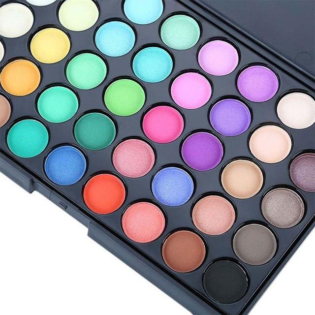 40 Colors Waterproof Glitter EyeShadow Palette Diamond Shimmer Eye Primer Pigment Long Lasting Nude Matte Eye Shadow Cosmetic 2