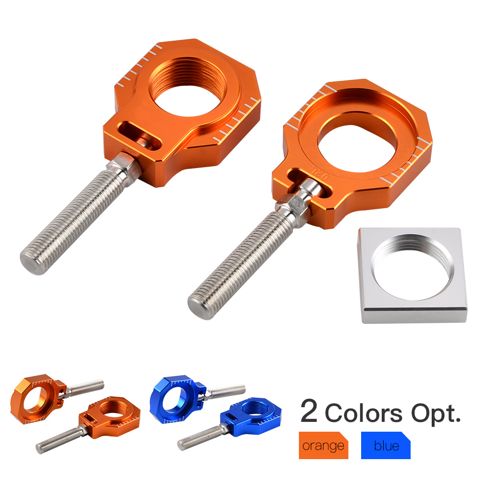 CNC Rear Axle Blocks Chain Adjuster For <font><b>KTM</b></font> 125 200 250 300 350 400 <font><b>450</b></font> SX SXF XC XCF 2013 2014 2015 2016 <font><b>2017</b></font> image