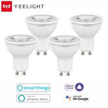 2021 Yeelight GU10 Dimmable Smart LED Bulb YLDP004 AC 220V 4.8W Warm White Bulb Work With Google Assistant Alexa Razer Chroma