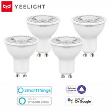2021 Yeelight GU10 디 밍이 가능한 스마트 LED 전구 YLDP004 AC 220V 4.8W 따뜻한 흰색 전구 작업 Google Assistant Alexa Razer Chroma