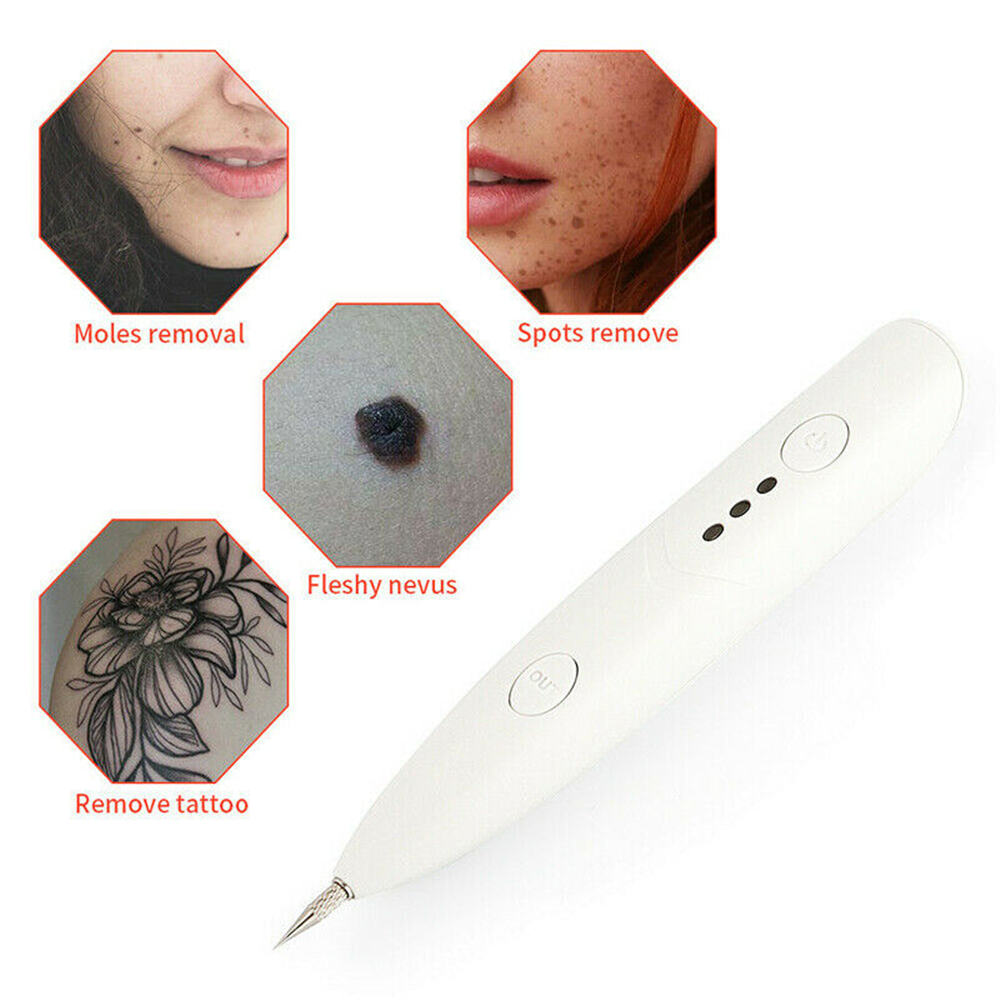 Laser Face Wart Tag Freckle Removal Machine Skin Mole Dark Spot Remover Pen UK