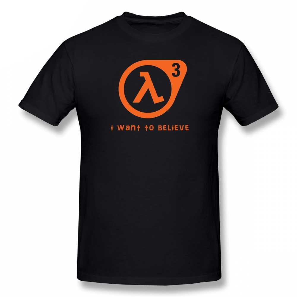 ハーフライフtシャツハーフライフ3私は信じtシャツ100% 綿かわいいtシャツ基本半袖男tシャツ