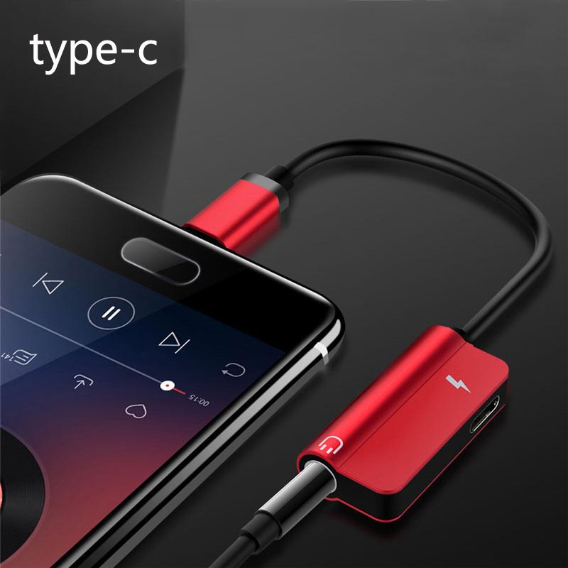 Aux Audio Headphone Converter Type C To 3.5mm Earphone Jack Adapter For Xiaomi Mi9 For Samsung S10+ Charger 2 In 1 USB Cable