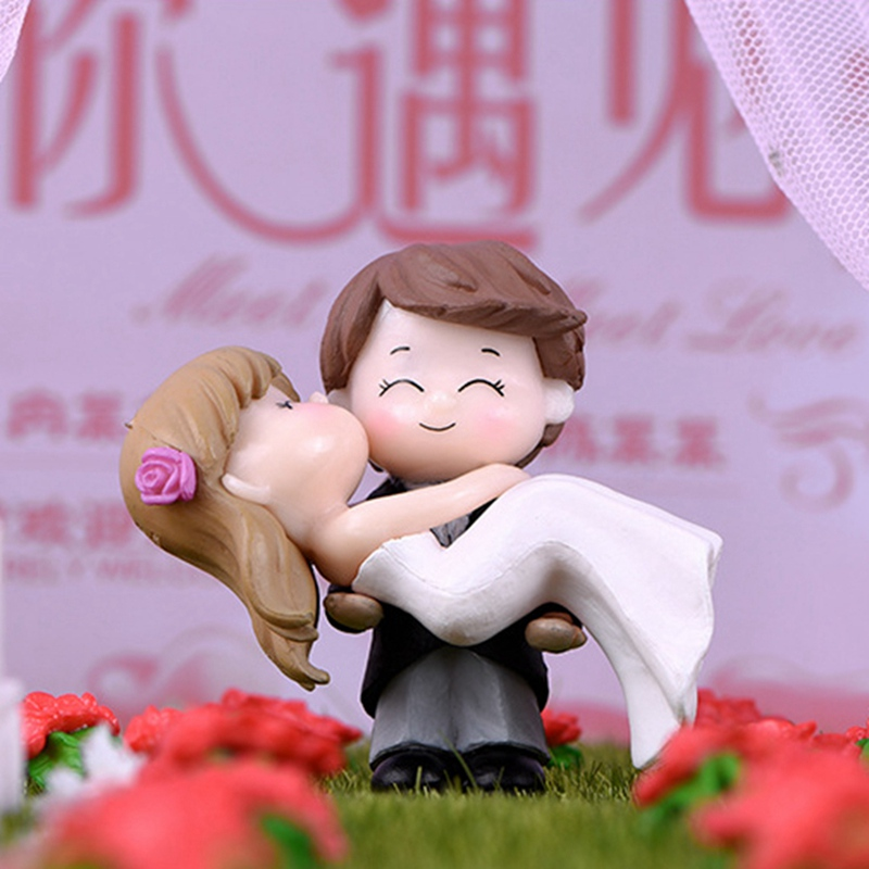 Cute Couple Figurines Portable Small Table Decoration Romantic Wedding Decoration Crafts