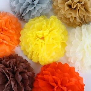 5 шт., 10 см, 20 см, 30 см, бумажные помпоны, цветочные шарики для свадебного украшения, товары для дня рождения, вечеринок, бумажные помпоны, домаш...