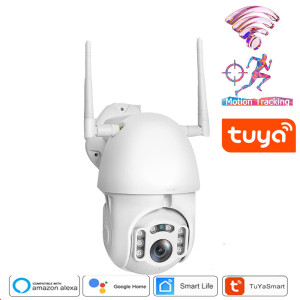 INQMEGA 1080P Tuya Auto Tracking Wifi Camera IP WiFi Security Home PTZ Speed Dome CCTV IR Onvif Outdoor With Goole Home Or Alexa