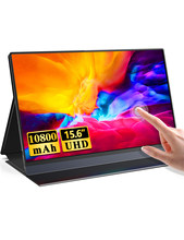 UPERFECT dahili 10800mAh pil 15.6 inç taşınabilir monitör dokunmatik ekran IPS 1080P FHD HDR oyun ekran USB HDMI