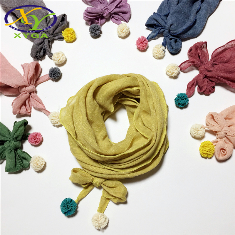 Children's Cotton Triangle Scarves Spring Autumn Boys And Girls Cute Small Scarves Child Baby Kids Soft Cotton Neckerchiefs