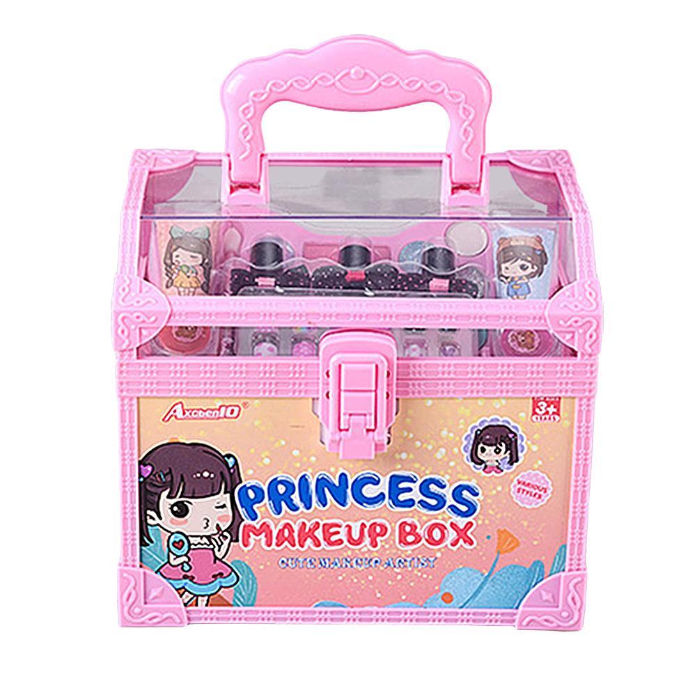 Girls Princess Cosmetics Make Up Set Cartoon Frozen Anna Elsa Polish Beauty Makeup Box Baby Kids Christmas Present