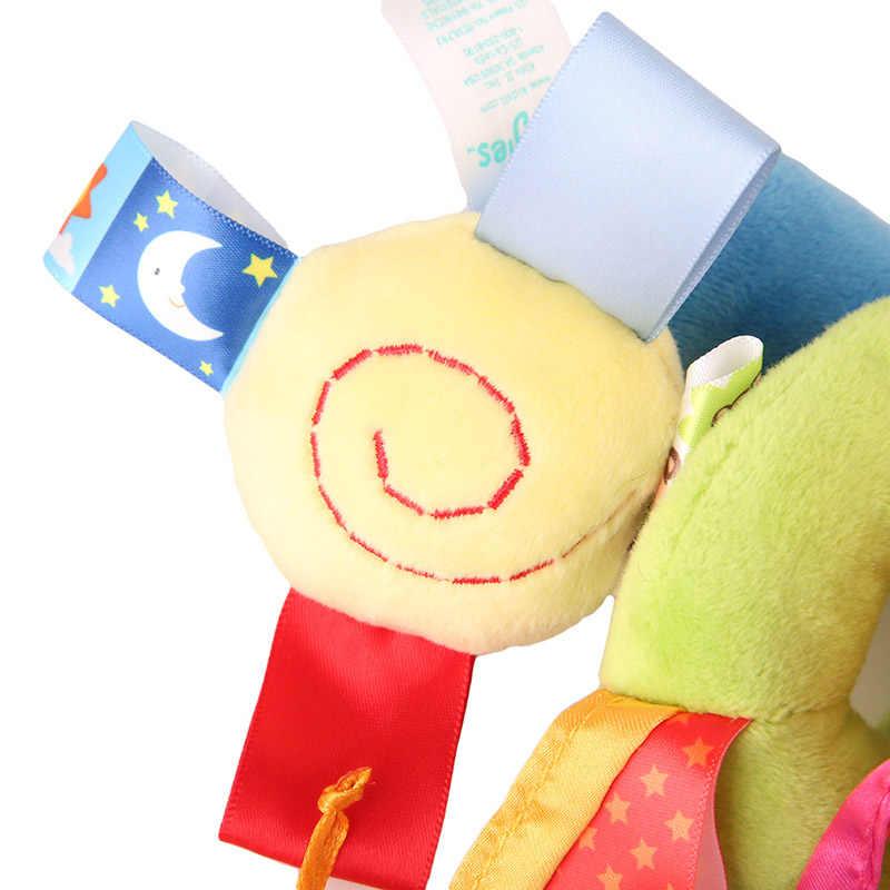 Детские игрушки для детей 0-12 месяцев кровать колокольчик плюшевая погремушка кроватка спиральная подвесная Мобильная детская коляска для новорожденных зверушки в подарок
