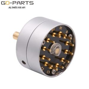 Image 3 - Eizz 3 way 3 posições interruptor rotativo fonte de sinal seletor alumínio escudo 12 pinos cobre banhado a ouro alta fidelidade áudio amp diy