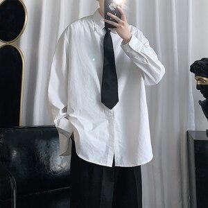 ¡Envío 2020! Camisa blanca Hawaiana de Color sólido para hombre, Camisa holgada de manga larga, camisas con puños franceses, Camisa Masculina