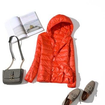 New Brand 90% White Duck Down Jacket Women Autumn Winter Warm Coat Lady Ultralight Duck Down Jacket Female Windproof Parka 21