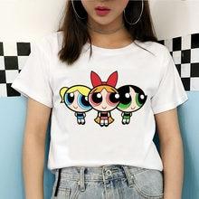 Новинка Лето 2020! Белые кавайные футболки с рисунком для девочек Harajuku, Забавные футболки с мультяшным принтом, модная одежда для женщин