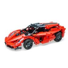 Игрушки здания из блоков гоночный красный автомобиль шторм C51009 453 шт пульт дистанционного управления спортивный автомобиль дети развивающие Строительные Кирпичи Детские игрушки